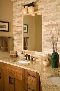 Craftsman Full Bathroom with Flush, Simple granite ...