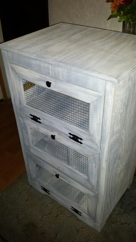 Potato Bin and storage cabinet