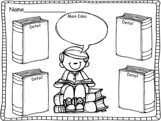 Main Idea and Details-Graphic Organizer. Tons of ADORABLE