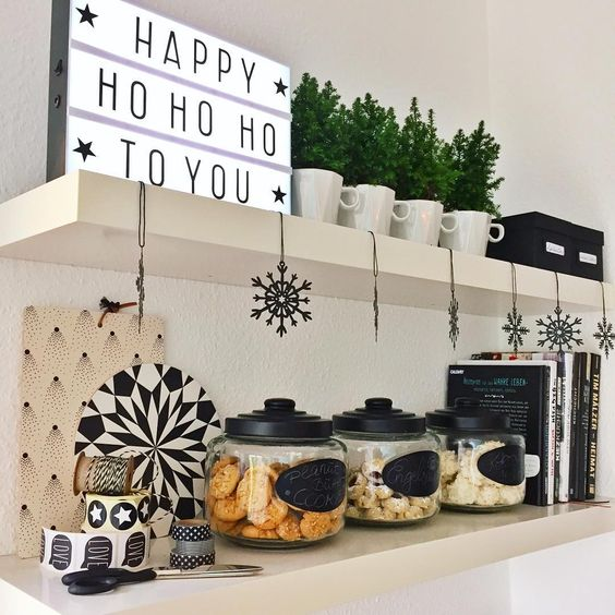 """happy HO HO HO ... all cookie jars are filled up for xmas and i looooove my little lightbox! #cornersofmyhome"":"