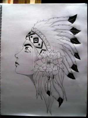drawings easy pencil native american drawing americans indian tattoo sketches princess tribal tattoos displaying simple draw sketch paintings woman face