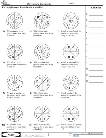 Printables. 7th Grade Probability Worksheets. Mywcct