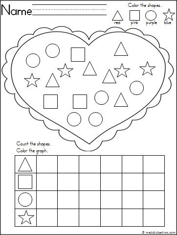 This is a shape recognition and graphing activity for