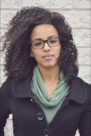 glasses and curly hair