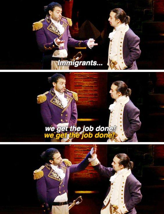 Immigrants We Get The Job Done Hamilton Lyrics : immigrants, hamilton, lyrics, Boston, Academy, Library:, Done!