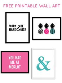 Free Printable Wall Art from @chicfetti | Decorating Ideas ...
