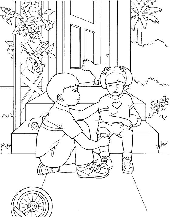 Little girls, Libraries and Coloring pages on Pinterest