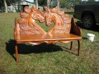 Unique Hand Carved Horse Bench | Mveis | Pinterest ...