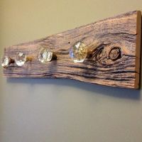 Old door knobs and barn board. I prepped the door knobs ...