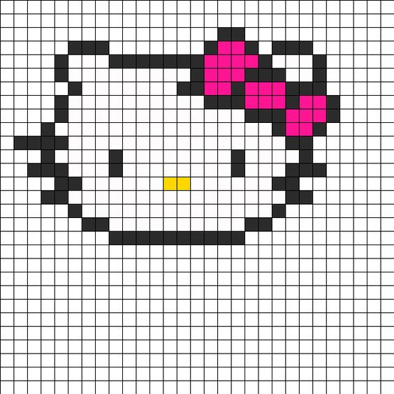 Hello kitty, Bead patterns and Fuse beads on Pinterest