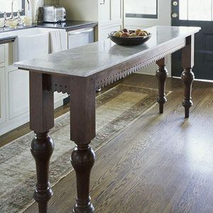 Narrow Island For Small Kitchen Legs Amp Lace Fretwork For
