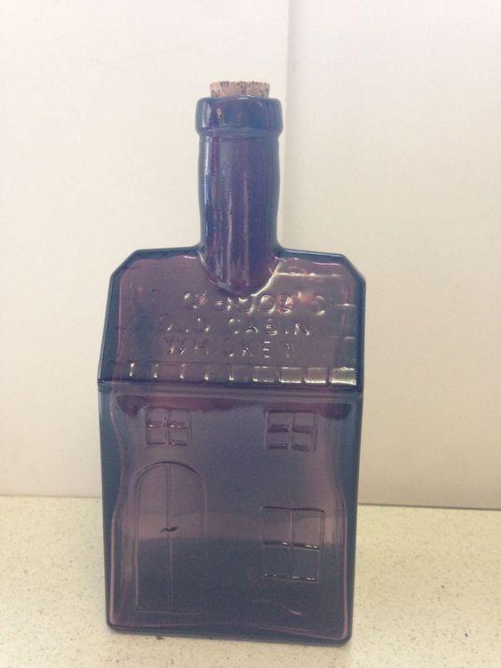 Antique E C Boozs Old Cabin Whiskey Bottle  bottles