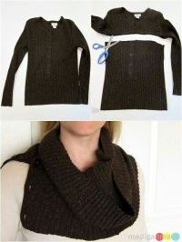Diy scarf, Scarfs and Sweaters on Pinterest
