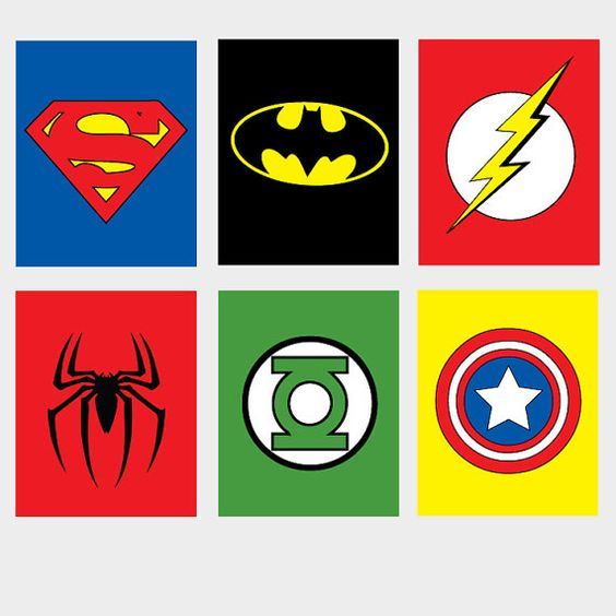 6 printable Super Hero/ superhero Wall Art spiderman by