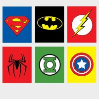 6 printable Super Hero/ superhero Wall Art spiderman by