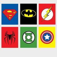6 printable Super Hero/ superhero Wall Art spiderman by ...
