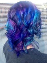 midnight blue hair color ideas