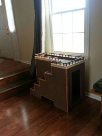 Dog window seat with toy storage.   for the dogs ...