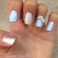 Cinderella inspired nails | Cosmetology | Pinterest ...