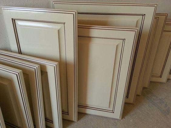 Antique White Glazed Cabinet Doors Recent Work Great