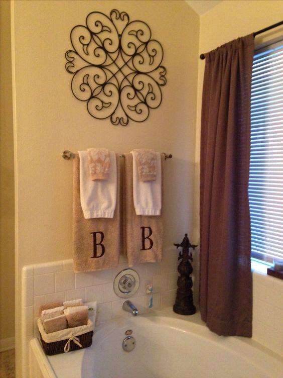 Master bathroom decor  My DIY Projects  Pinterest