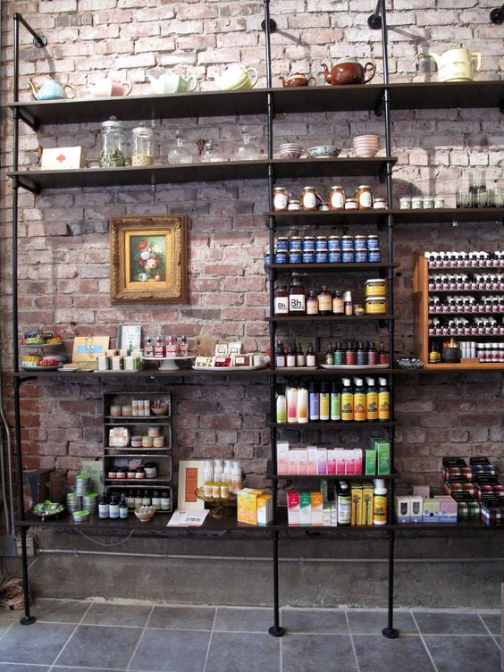SUGARPILL, Seattle, an herbal specialty store. The boutique combines a modern aesthetic with an old-word apothecary feel to evoke an alterna-balance.: