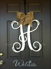 "20"" Monogram Letter- Interlocking Script Initial- Wooden ..."