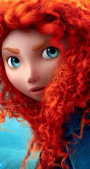 brave disney characters with red