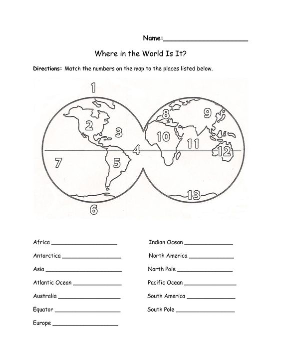 Label continents oceans worksheet: Continents And Oceans