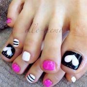 white toenail design toenails