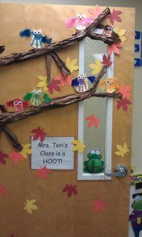 Owl Classroom Decorations | Handprint owl door display. by ...
