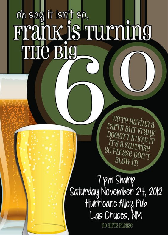 60th birthday invite ideas
