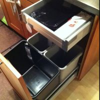 Trash can cabinet solution at IKEA | kitchens | Pinterest ...