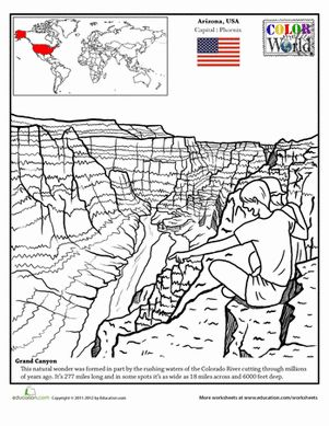 Grand canyon, Fourth grade and Worksheets on Pinterest