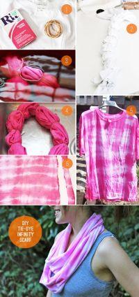 DIY tie dye infinity scarf