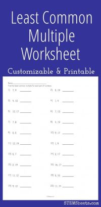 Math, Least common multiple and Worksheets on Pinterest