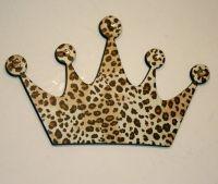 Leopard Princess crown wall decor , Diva wall decor ...