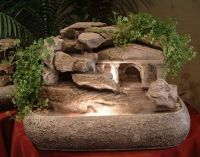 Hand-sculpted Ancient Roman Temple Tabletop Water Fountain ...