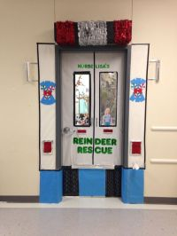 School Nurse Christmas Door Decorations! | school Health ...