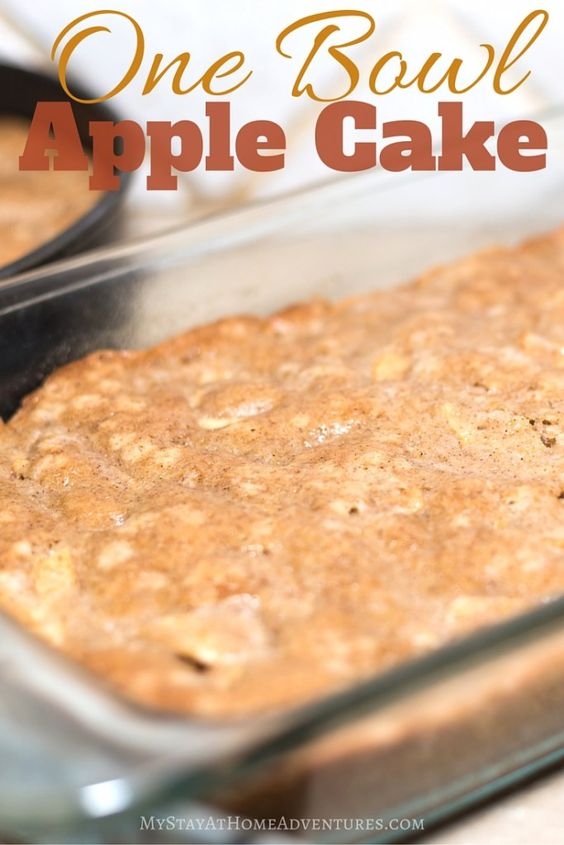 one bowl apple cake attempt recipe cakes recipes