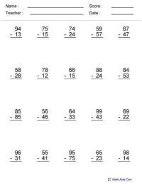 6th Grade Math Worksheets Printable | grade print math ...
