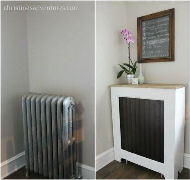corner radiator cover