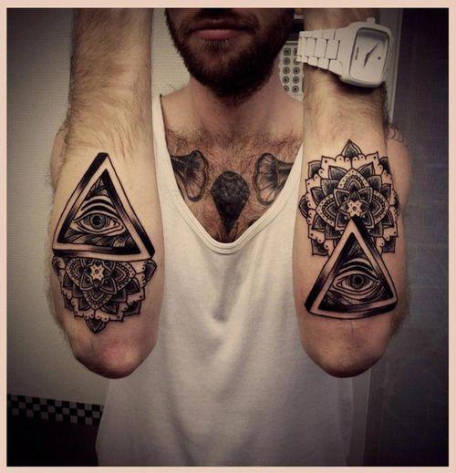 Tatouage Homme Avant Bras Illuminati