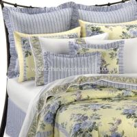 Yellow comforter, French blue and Laura ashley on Pinterest