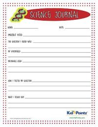 Science Journal Worksheet for kids science experiments ...