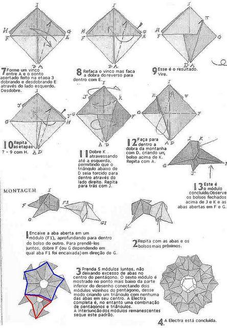 origami fireworks diagram