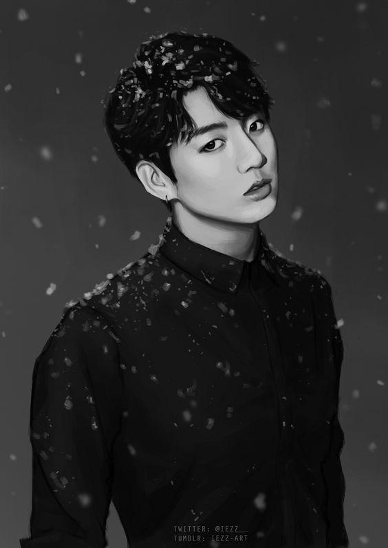 BTS Jungkook Christmas Fanart Jungkookie