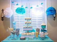 Baby shower sweets tables ~ Dessert table ~ Tiffany blue ...