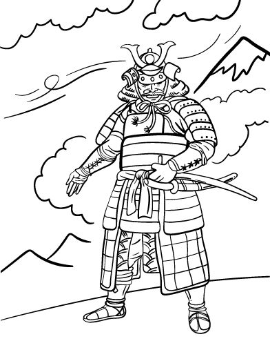 Coloring, Coloring pages and Samurai on Pinterest