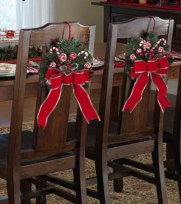 burlap chair covers for folding chairs prospera massage peppermint floral holiday dining tie decorations. great idea @ 2 $14.99, but i would ...